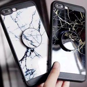 White or Black Marble  iPhone 7 8 Plus Case